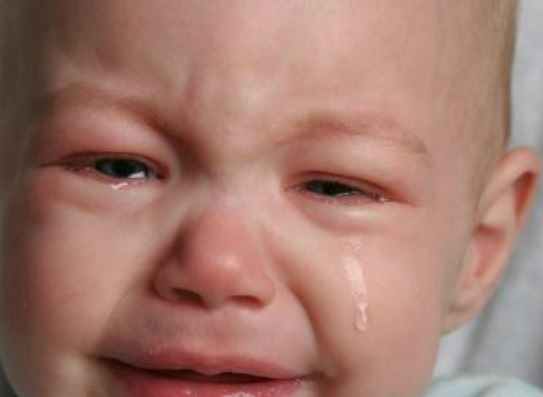Плач помогает младенцам уснуть