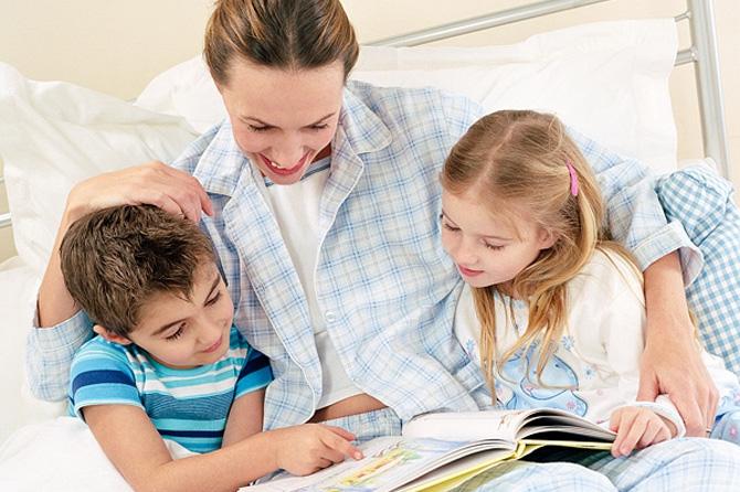 Чтение детям сказок перед сном развивает их мозг